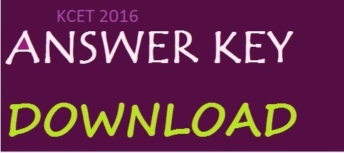 Karnataka PGCET Official Answer Key 2016