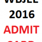 WBJEE Admit Card 2016| WB Joint Entrance Examination Hall Ticket