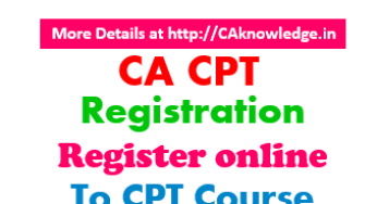 CA CPT 2016 Application Form December 2016 Exam notification @ www.icai.org