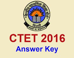 CTET Answer key 2016