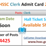 HSSC Clerk Admit Card 2016 Written Exam Date www.hssc.gov.in
