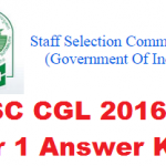 {Download} SSC CGL Tier 1 Answer Key 2016 Exam Solutions Set Wise A B C D Morning/Evening Shift @ ssc.nic.in