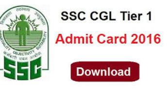 SSC CGL tier 1 admit card 2016 region wise Download