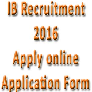 Intelligence Bureau Online Application Form