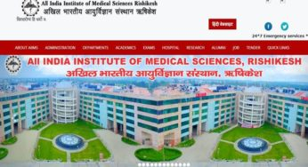 AIIMS Rishikesh recruitment 2018 Apply Online Group A Group B Staff Nurse Application Form
