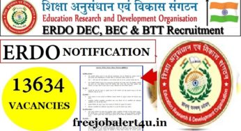 ERDO Recruitment 2018 – Apply Online for 13634 BTT, DEC and BEC Posts