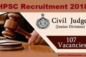 HPSC Recruitment 2018 107 Civil Judge
