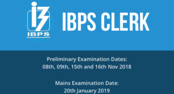 IBPS Clerk Recruitment 2018 Apply Online for CRP Clerk VIII 7275 Posts