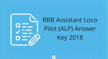 RRB ALP Answer Key 2018 & Technician Question Paper Solution With Cut Off Marks
