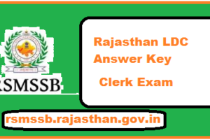 Rajasthan LDC Answer Key