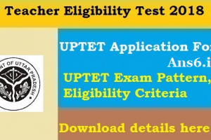 UPTET Application Form 2018