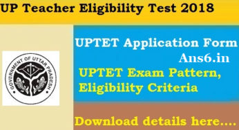 UPTET Application Form 2018 UP TET Online Form Apply Now